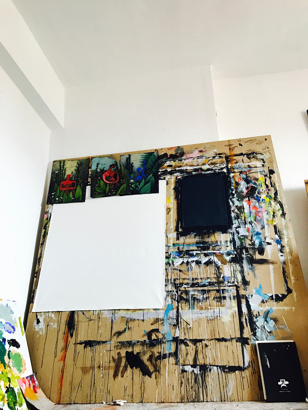 New Paintings on the wall at The Studio