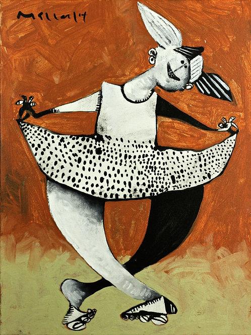 MOMENTIS: Polka Dotted Dancer  ~ Downloadable Art Print