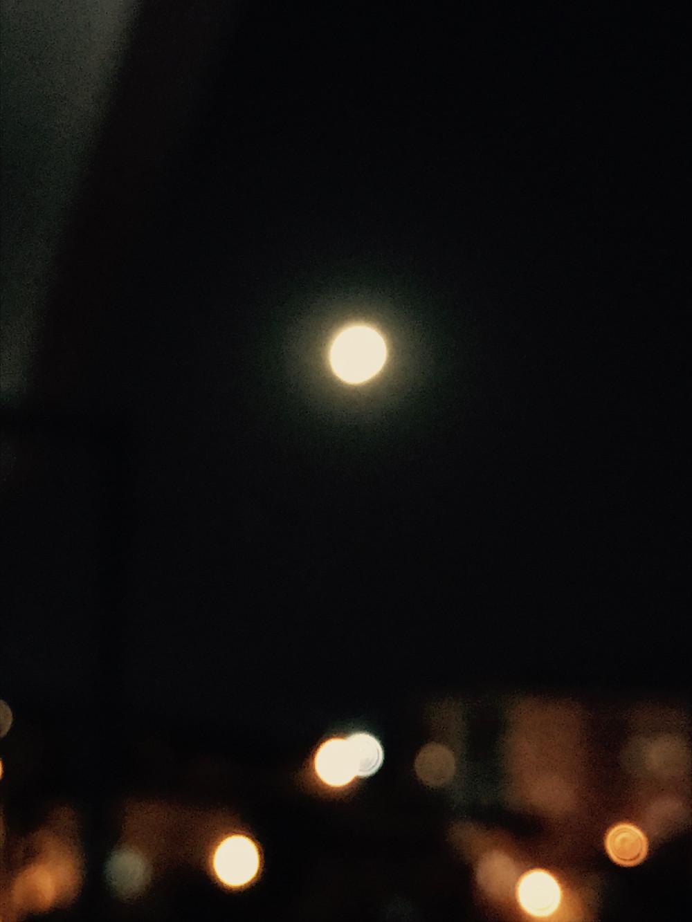 Full Moon over The Studio in Çanakkale