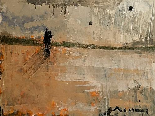 DISTANCE: No.002 - Original Oil Painting