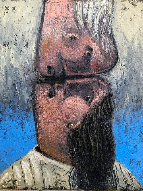 "EXODUS: ""Confrontations No.1"" ~ Original Oil on Canvas"