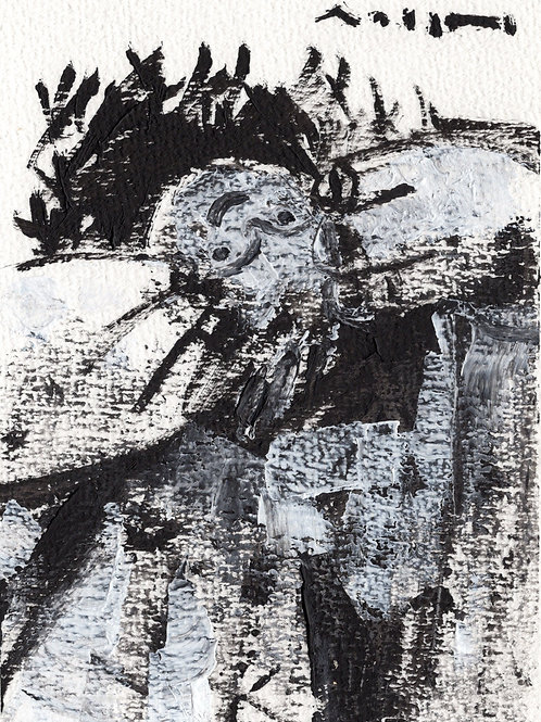 "ODYSSEY: ""Wake"" ~ Original Oil on Paper"
