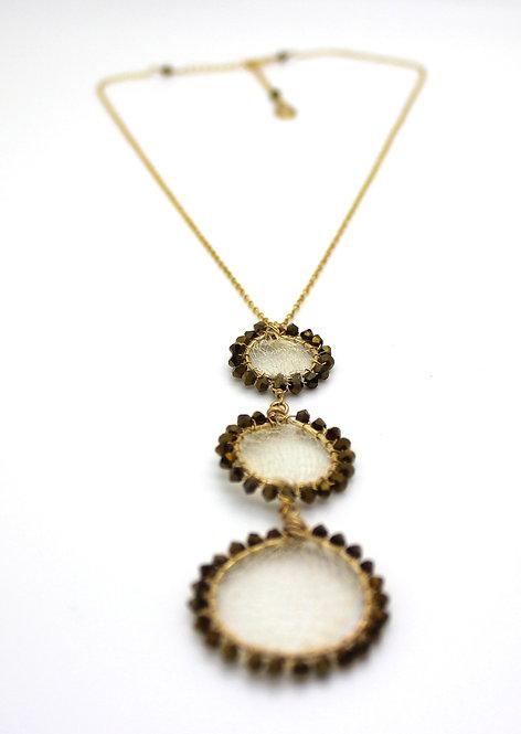 Mesh 3 Circle Necklace