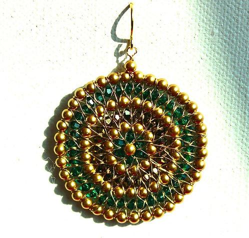 Emerald Crystal Circle Earring