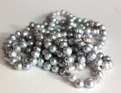 Grey Fresh Water Pearl Necklace