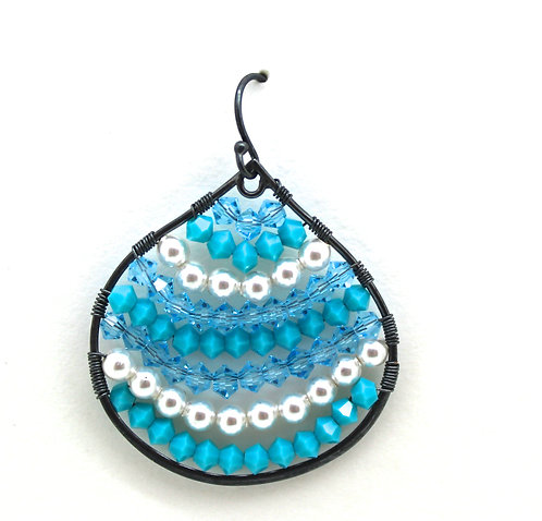 LargeTear Drop Turquoise  Earrings