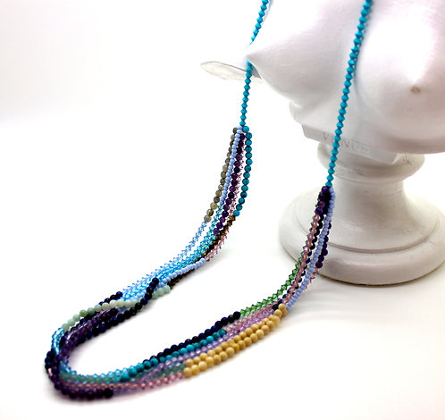 5 Layer Necklace MultiStone