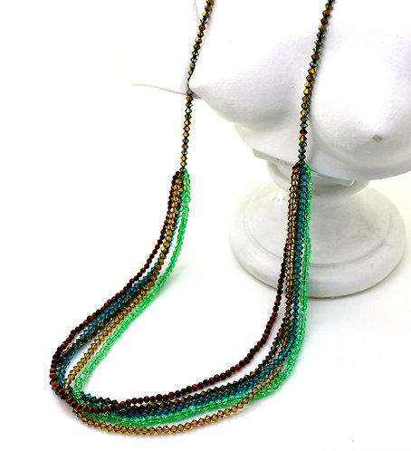 5 Layer Green Necklace
