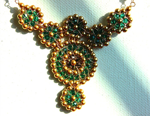 7 Circle Emerald Necklace