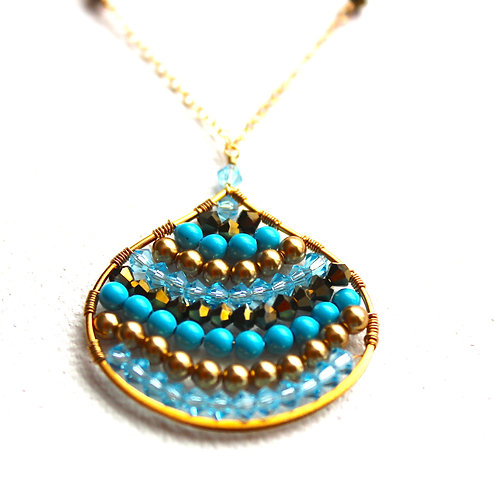 Tear Drop Gold Filled Necklace