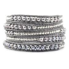 Wrap Around Grey Pearl Bracelet