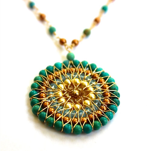 Circle Turquoise Necklace