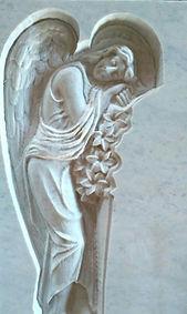 Скорбящий ангел из мрамора, ангел из мрамора