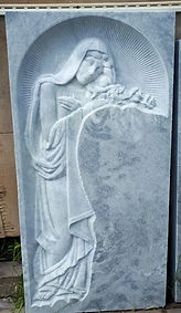 скорбящая на могилу, скорбящая из мрамора