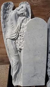 Скорбящий ангел на могилу, ангел из камня