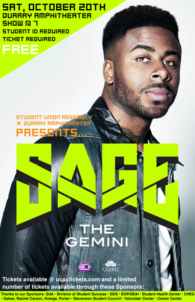 Sage the Gemini Concert Ad