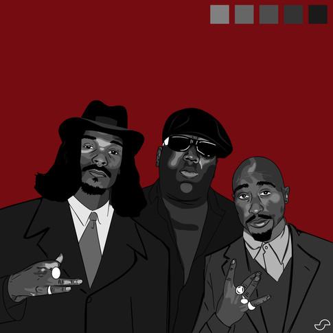 """Snoop, Big, and Pac"""