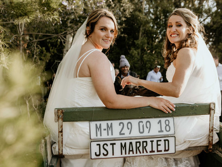 Mandy and Melanie's forest wedding