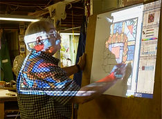Robert Pinart Stained Glass Artist fabricated at Wilmark Studios