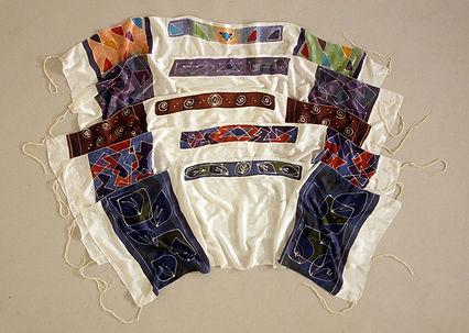 painted silk tallitot, tallit, prayer shawls, the eye of the needle, Nancy Katz