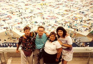 Scott Lago, Jack Caster, Daebra Resnik, Nancy Katz, NAMES Project, AIDS Memorial Quilt, Minneapolis display