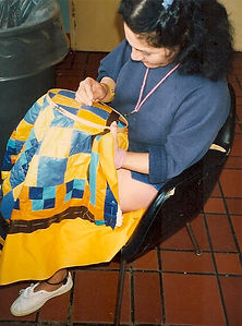 woman hand quilting