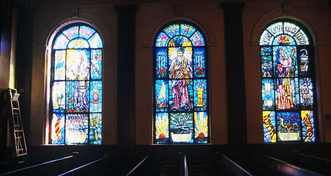 Survey conditions of Stained Glass windows before removal