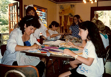 Nancy Katz, UAHC Camp Swig, quilt making class, 10 year old girls
