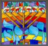 Leviticus Stained Glass Windows designed by Mordechai Rosenstein Jewish Stained Glass