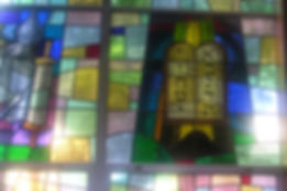 Stained glass windows before removal.