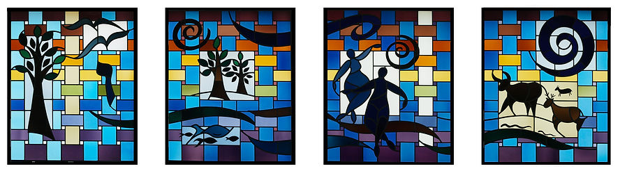 Nancy Katz/Wilmark Jewish stained glass Creation/Bereishit