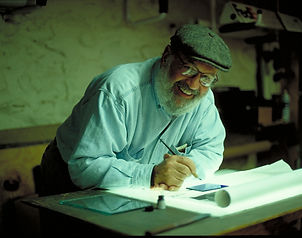 Mordechai Rosenstein Wilmark Jewish stained glass studio