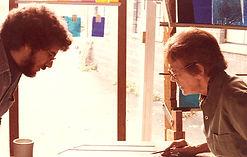 Mark Liebowitz and Katherine Tait, Mark's first Artist