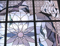 stained glass skylight, Albinus Elkus, National Arts Club
