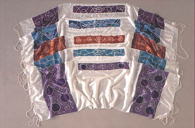 painted silk prayer shawls (tallit) by Nancy Katz eye of the needle