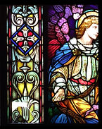 Repair to Stained Glass, Shelburne Falls, Western Massachusetts