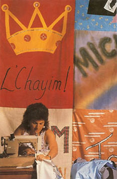 Nancy Katz, NAMES Project, AIDS Memorial Quilt, sewing panels,