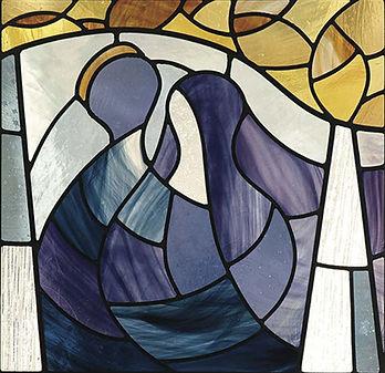 wedding couple stained glass, Nancy Katz, Wilmark studios