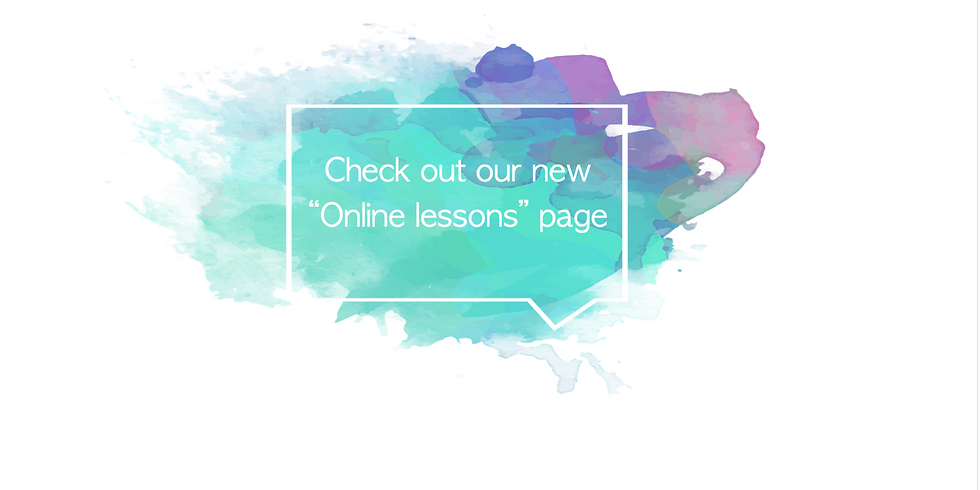 """Find more about the lessons in the """"Online Lessons"""" Page!!"""