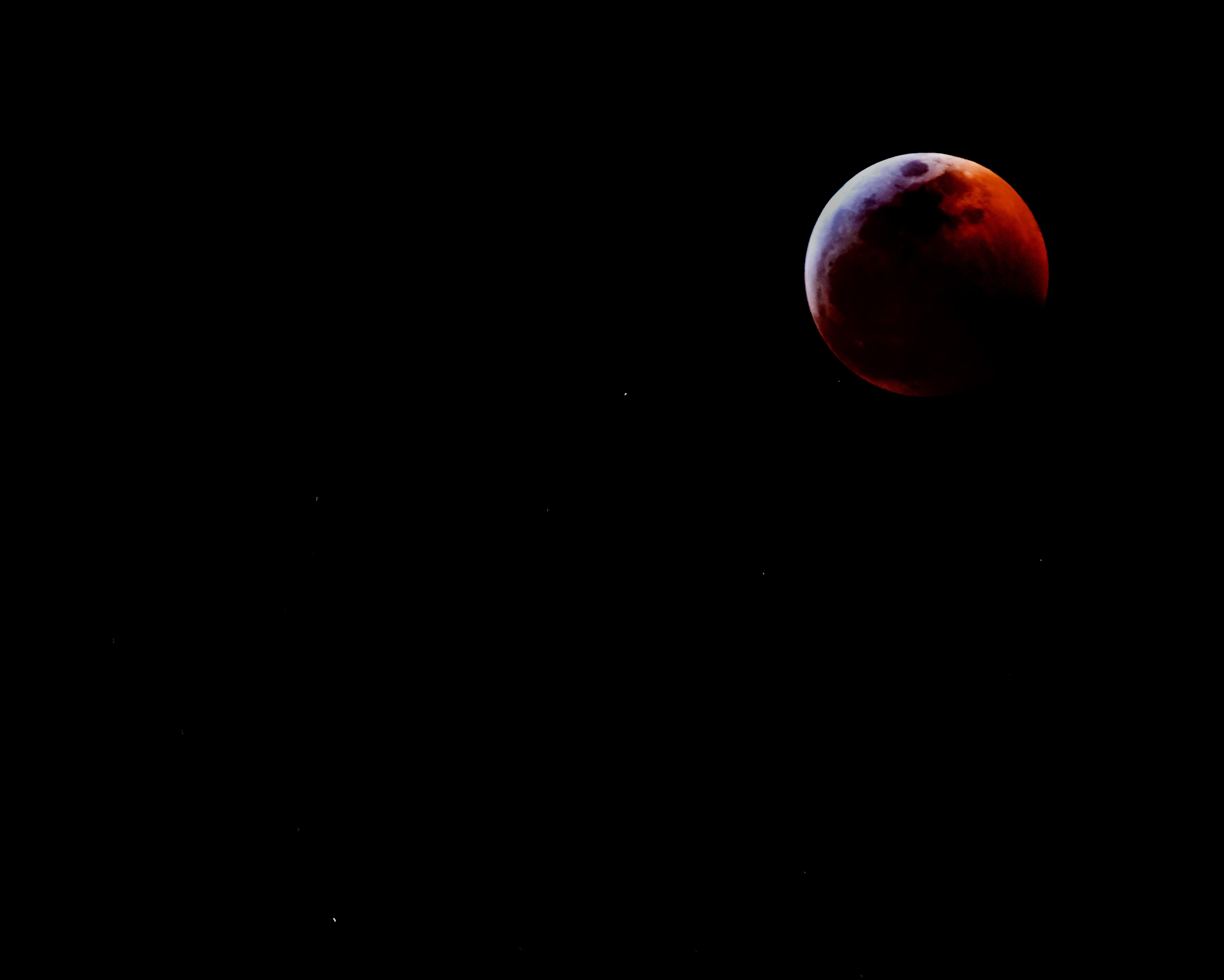 Blood moon over Texas