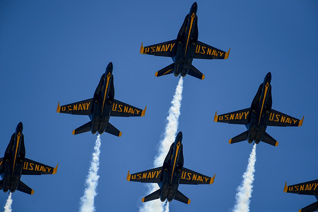 The Blue Angels Fly Over Texas