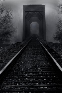 Train Bridge over the Trinity River