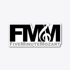 FMM die-cut sticker by Five Minute Mozart.