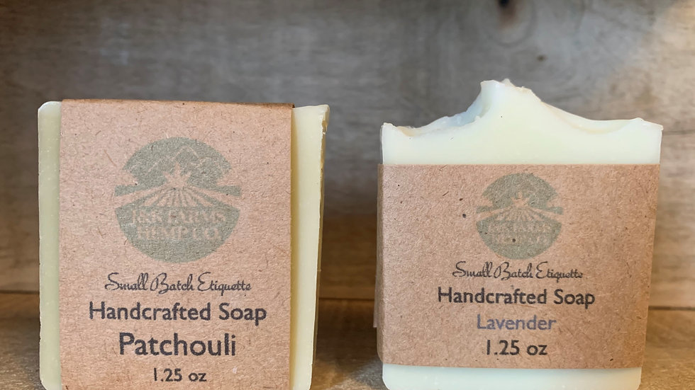 Handcrafted Soap made with Hemp Seed Oil- Travel Size
