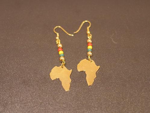 Earrings + Africa pendants