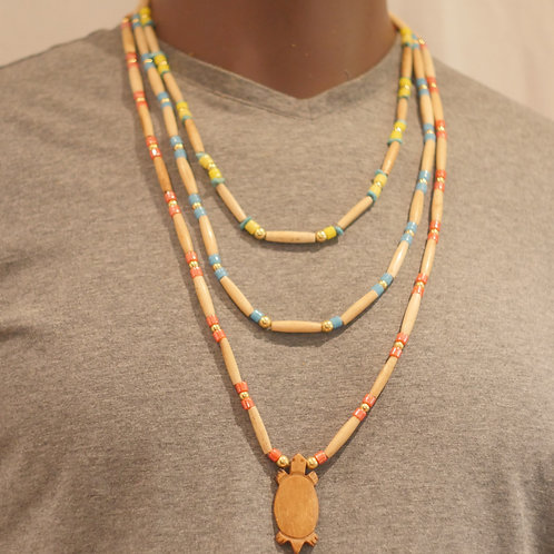 3 row necklace + pendant