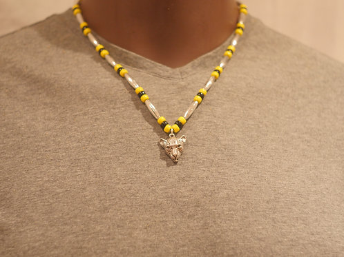Bead chain + Cheetah pendant