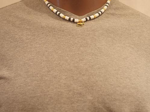 Bead chain + Zebra pendant