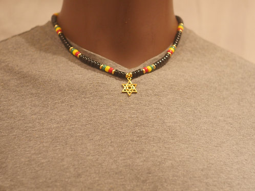 Bead chain + Star of David pendant