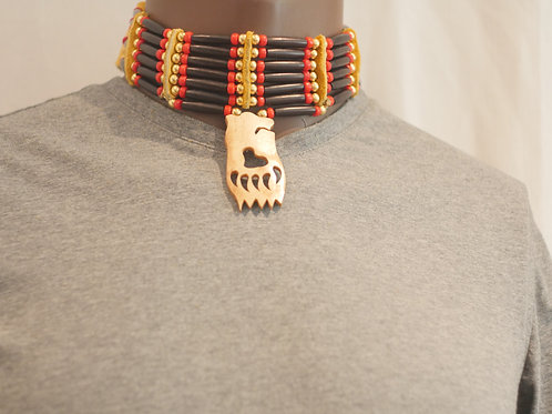 6 row choker + pendant